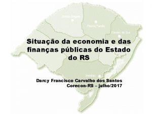 Situao da economia e das finanas pblicas do