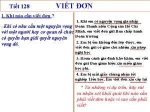 Tit 128 VIT N I Khi no cn
