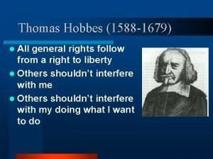 Thomas Hobbes 1588 1679 l All general rights