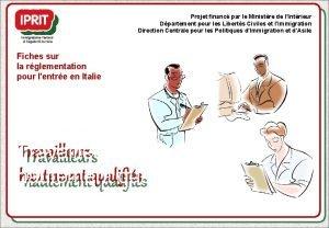 Projet financ par le Ministre de lIntrieur Dpartement
