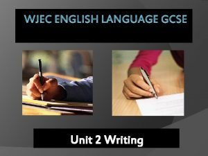WJEC ENGLISH LANGUAGE GCSE Unit 2 Writing What