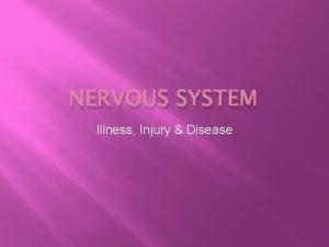 NERVOUS SYSTEM Illness Injury Disease Concussion m TBI