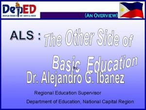 DEPARTMENT OF EDUCATION by Regional Education Supervisor Department