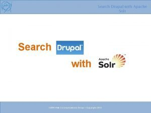 Search Drupal with Apache Solr Search with CERN