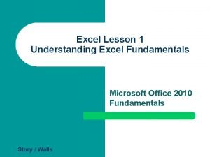 Excel Lesson 1 Understanding Excel Fundamentals Microsoft Office
