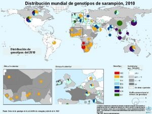 Distribucin mundial de genotipos de sarampin 2010 Distribucin