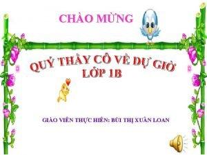 CHO MNG GIO VIN THC HIN BI TH