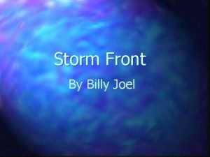 Storm Front By Billy Joel Safe at harbor
