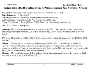 month year doc IEEE 802 15 doc Project
