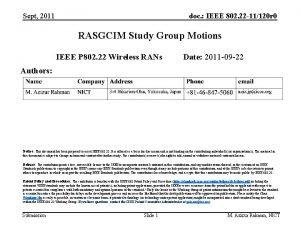 Sept 2011 doc IEEE 802 22 11120 r