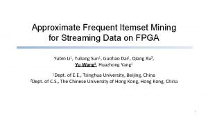 Approximate Frequent Itemset Mining for Streaming Data on