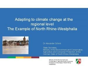 Adapting to climate change at the regional level