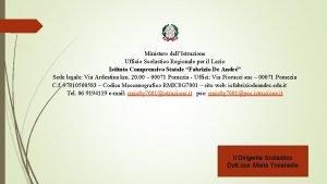 Ministero dellIstruzione Ufficio Scolastico Regionale per il Lazio