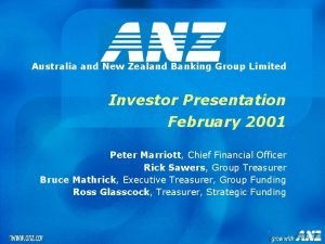 Australia and New Zealand Banking Group Limited Investor