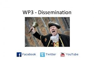 WP 3 Dissemination Outline Overview of the Dissemination