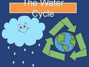 The Water Cycle Water Everywhere Why is water