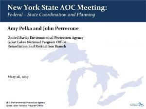 New York State AOC Meeting Federal State Coordination