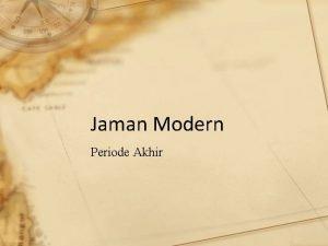 Jaman Modern Periode Akhir NOVEL DAN KRITIK Sastra