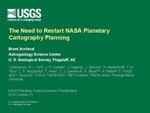 The Need to Restart NASA Planetary Cartography Planning