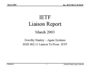 March 2003 doc IEEE 802 11 03264 r