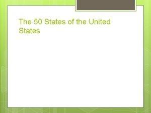 The 50 States of the United States Alabama