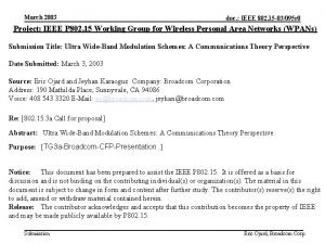 March 2003 doc IEEE 802 15 03095 r