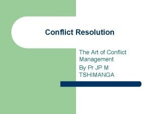 Conflict Resolution The Art of Conflict Management By