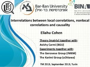 Interrelations between local correlations nonlocal correlations and causality