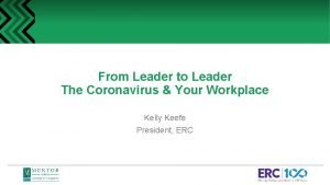From Leader to Leader The Coronavirus Your Workplace