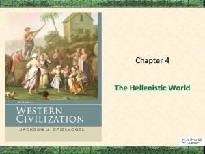 Chapter 4 The Hellenistic World Macedonia and the