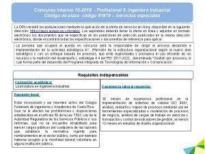 Concurso interino 10 2019 Profesional 5 Ingeniero Industrial