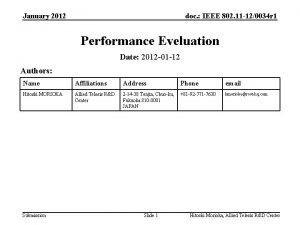 January 2012 doc IEEE 802 11 120034 r