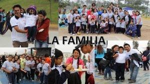 LA FAMILIA FAMILIA AGREGADA FAMILIA EXTENDIDA FAMILIA INCOMPLETA