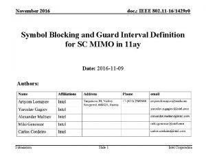 November 2016 doc IEEE 802 11 161429 r