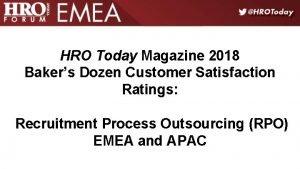 HRO Today Magazine 2018 Bakers Dozen Customer Satisfaction