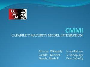 CMMI CAPABILITY MATURITY MODEL INTEGRATION lvarez Wilsandy Castillo
