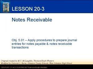LESSON 20 3 Notes Receivable Obj 5 01