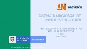 1 1 AGENCIA NACIONAL DE INFRAESTRUCTURA RESULTADOS PLAN