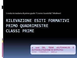 Scuola secondaria di primo grado Cosmo Guastella Misilmeri