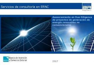 Servicios de consultora en ERNC Asesoramiento en Due
