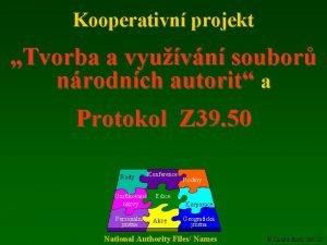 Kooperativn projekt Tvorba a vyuvn soubor nrodnch autorit