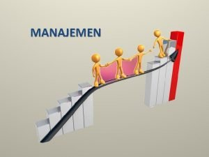 MANAJEMEN Pengertian Manajemen Sebuah proses untuk mengatur sesuatu