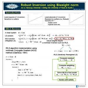Robust Inversion using Biweight norm Jun Ji Hansung