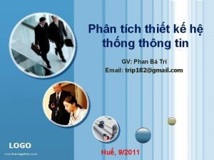 Phn tch thit k h thng thng tin