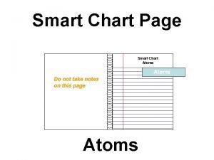 Smart Chart Page Smart Chart Atoms Do not