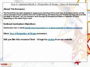 Year 4 Summer Block 5 Properties of Shape