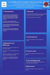 A scientific poster template and instructions Ami Wiesel