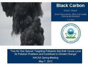 Black Carbon Erika N Sasser Senior Policy Advisor
