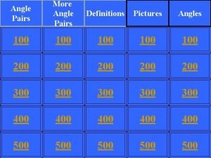 Angle Pairs More Angle Pairs Definitions Pictures Angles