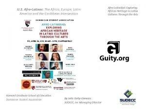 U S AfroLatinos The Africa Europe Latin America